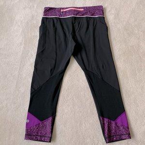 Lululemon RUN inspired Cropped leggings, size 8